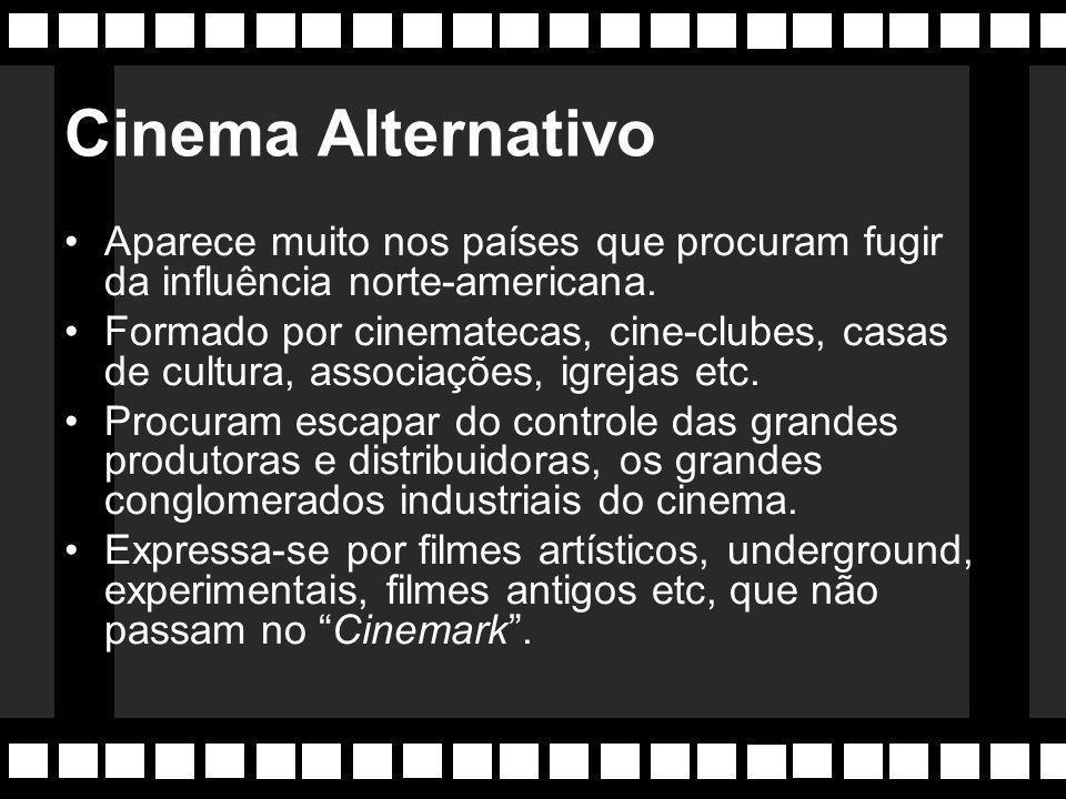 Cinema Underground Cineastas americanos que se opõem a produção industrial e fazem um cinema com temáticas bem diferentes do gosto mediano. Utilizam o