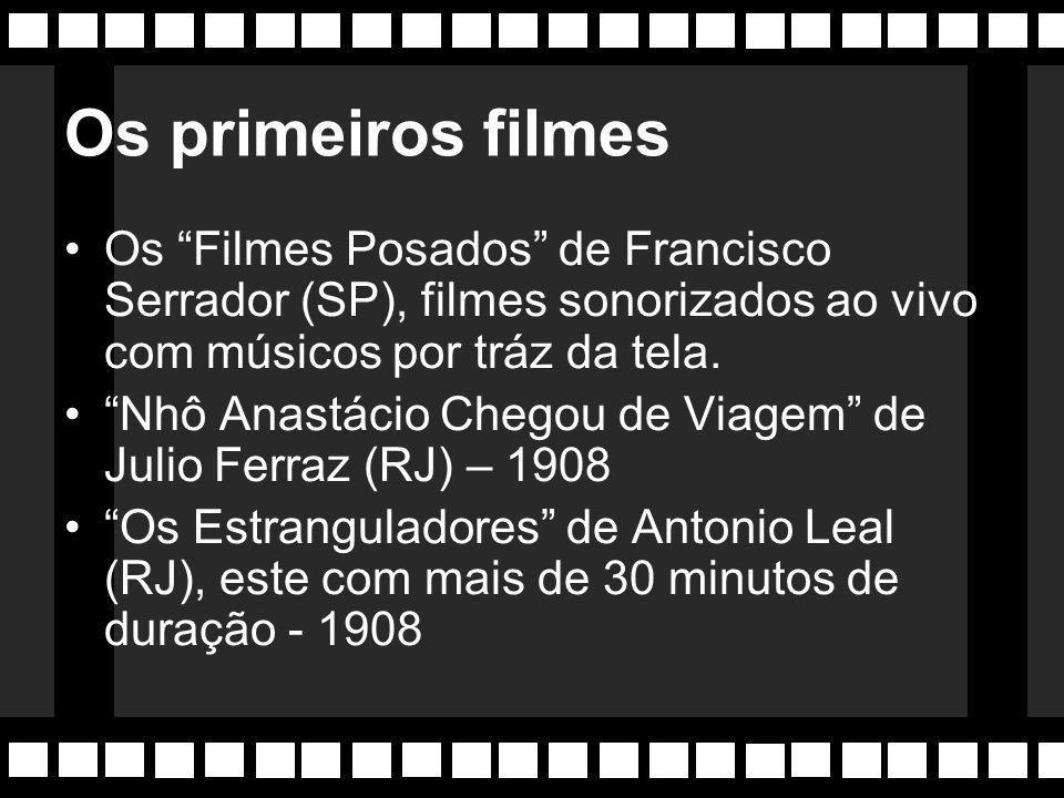 Sem recursos Até 1906, as exibições cinematográficas são escassas devido a falta de energia elétrica. Com a construção da Usina do Ribeirão Lages, sur