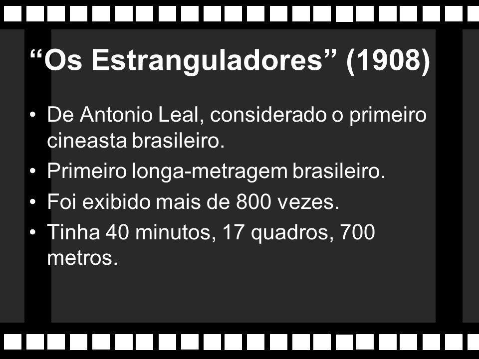 """Os primeiros filmes Os """"Filmes Posados"""" de Francisco Serrador (SP), filmes sonorizados ao vivo com músicos por tráz da tela. """"Nhô Anastácio Chegou de"""