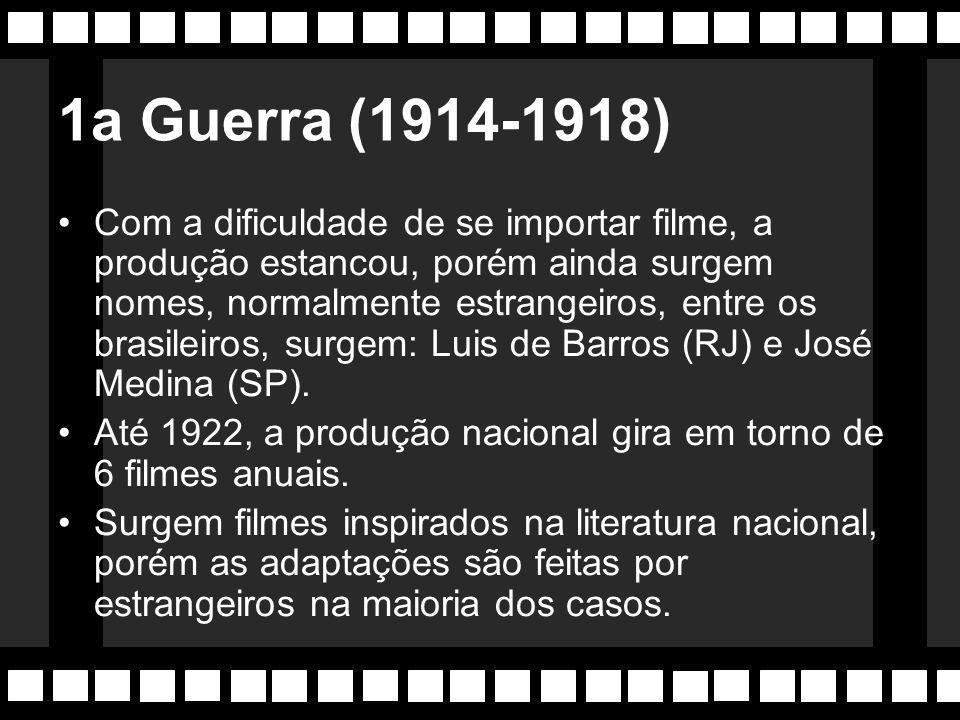 2a Época: 1912-1922 Antonio Leal e os Irmãos Botelho (Paulino e Alberto), frente ao declínio do cinema em 1911, voltam a investir em policiais.