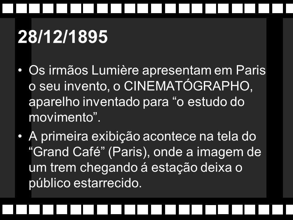 1880 O norte-americano Thomas Alva Edison inventa o Cinetoscópio. Roda uma série de pequenos filmes em seu estúdio, o Black Maria, primeiro da históri
