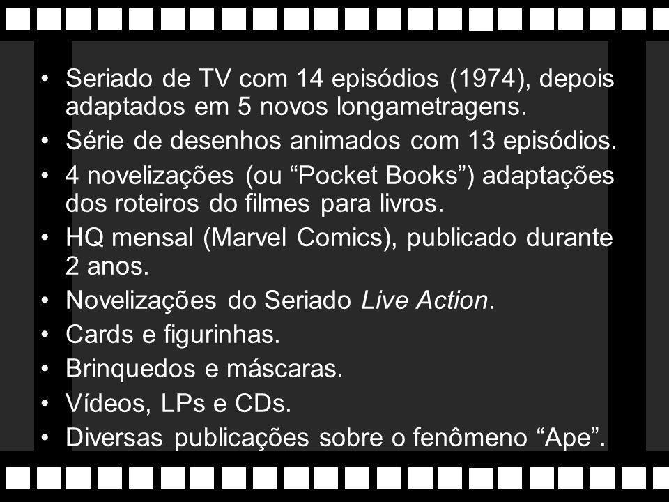 """Macacomania 5 longametragens: –""""Planeta dos Macacos"""" (1968) –""""A Volta ao Planeta dos Macacos"""" (1970) –""""A Fuga do Planeta dos Macacos"""" (1971) –""""A Conqu"""