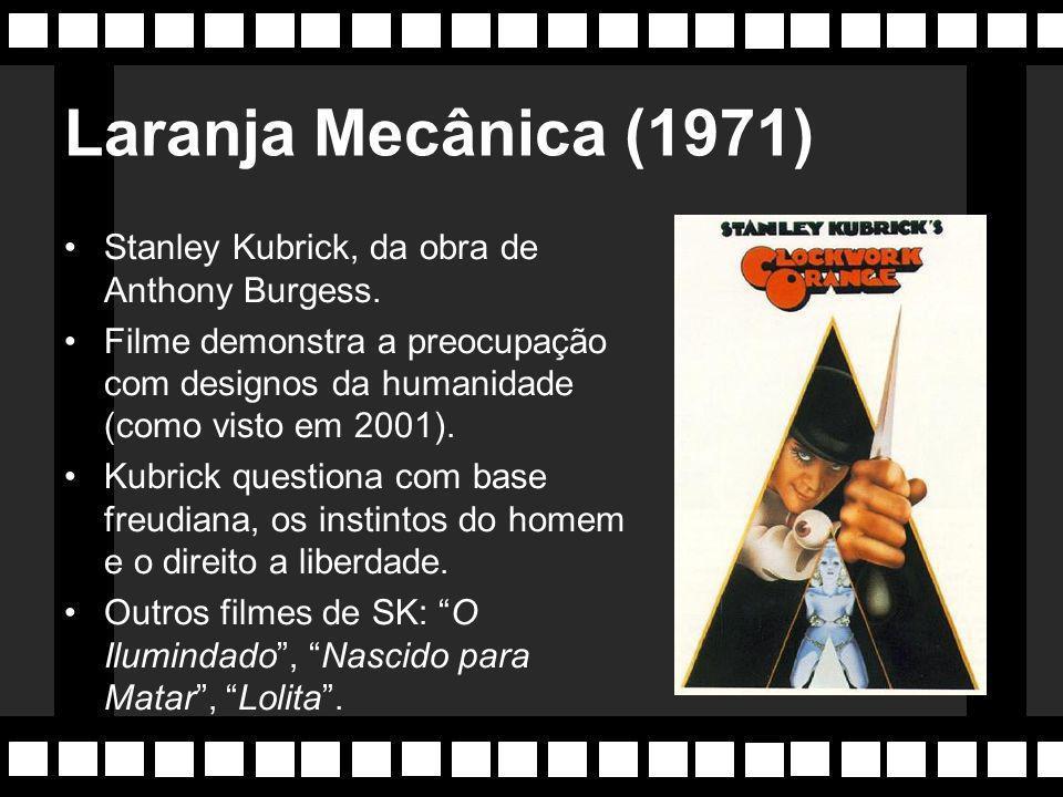 Anos 70 Época marcada pela influência dos protestos contra a guerra do Vietnã. Diretores como Martin Scorcese e Stanley Kubrick são os principais nome