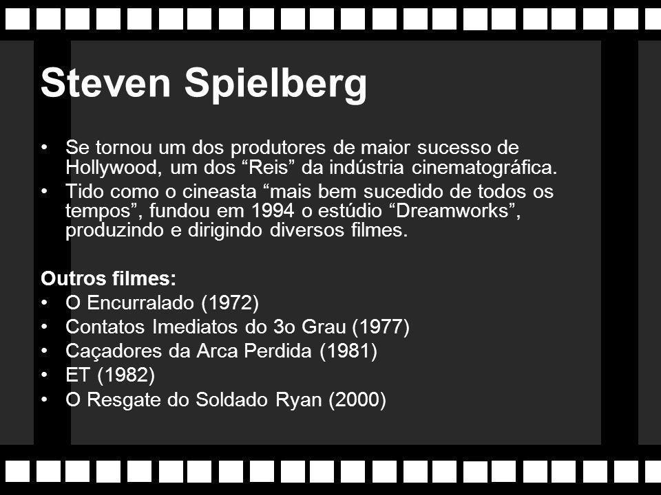 """Anos 80 Aparece o fenômeno """"Spielberg"""". O cinema de Steven Spielberg se desenvolve em cima de uma apuradíssimo censo técnico, explorando todo potencia"""