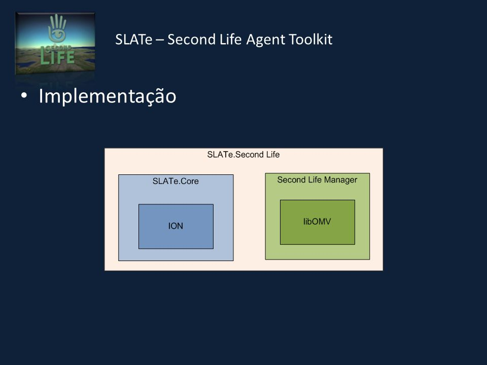 SLATe – Second Life Agent Toolkit Implementação