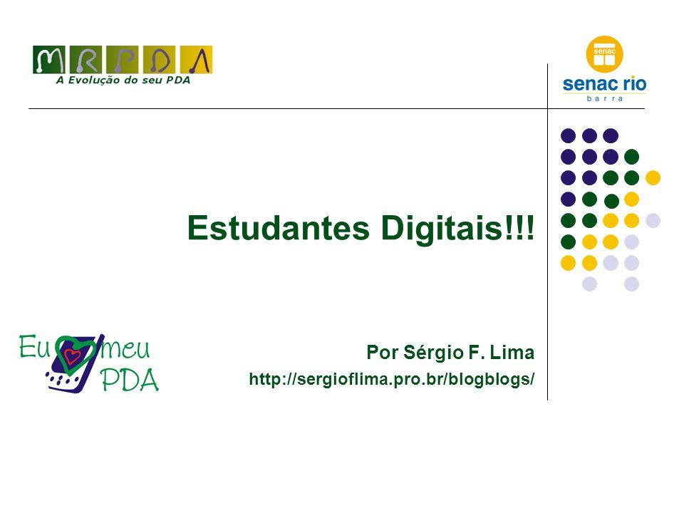 O Pda como instrumento do Aluno Digital – Nota de Copyleft Por Sérgio F.