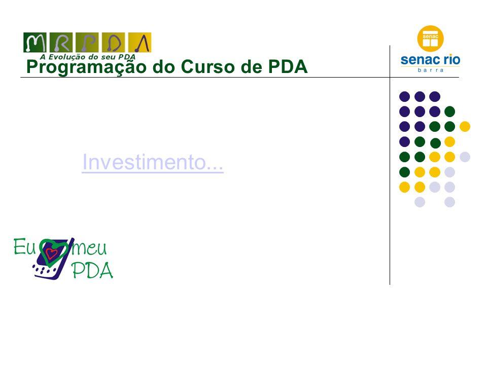 Programação do Curso de PDA Investimento...
