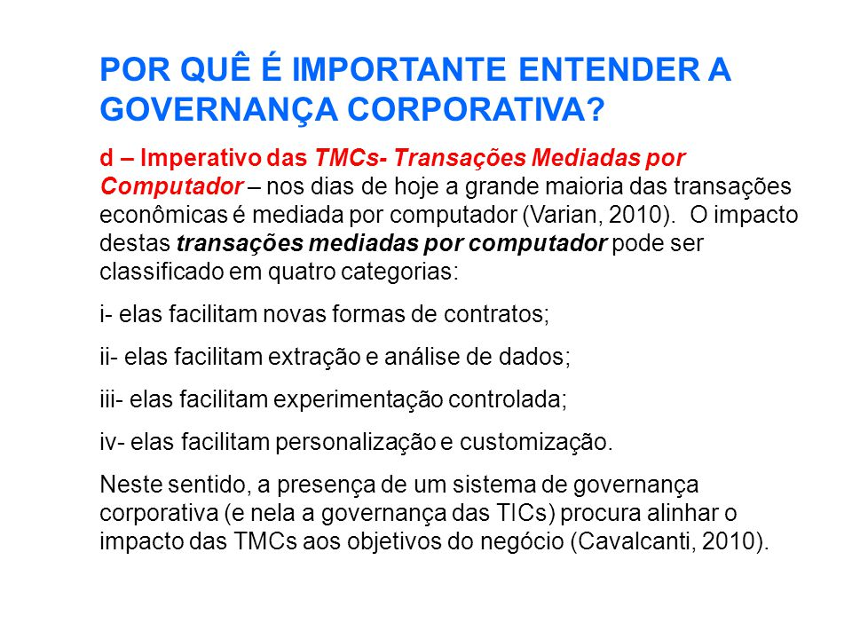 POR QUÊ É IMPORTANTE ENTENDER A GOVERNANÇA CORPORATIVA.