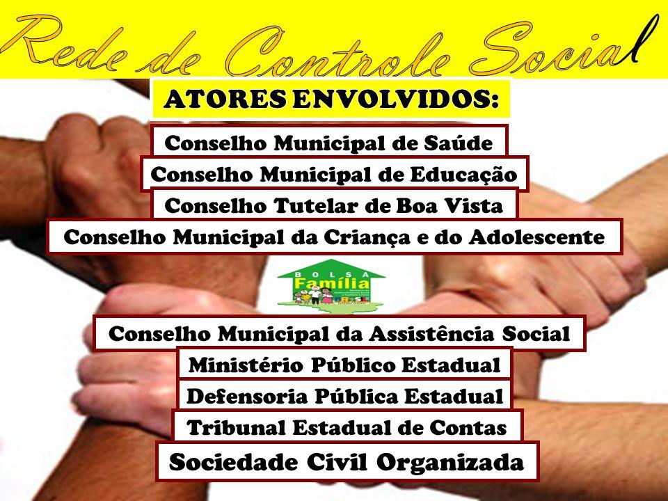 Conselho Municipal de Saúde Conselho Municipal de Educação Conselho Tutelar de Boa Vista Conselho Municipal da Criança e do Adolescente Conselho Munic