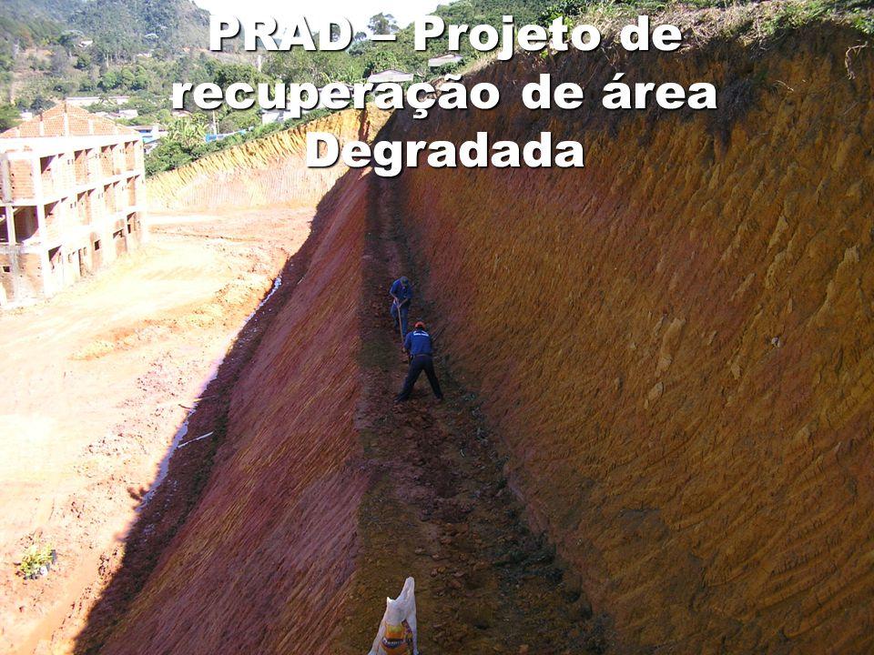 PRAD – Projeto de recuperação de área Degradada