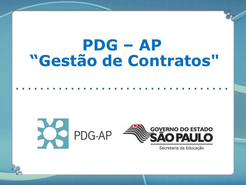 """PDG – AP """"Gestão de Contratos"""