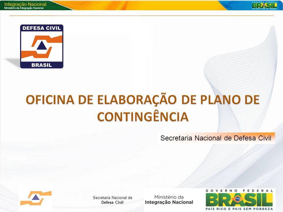 Secretaria Nacional de Defesa Civil Secretaria Nacional de Defesa Civil