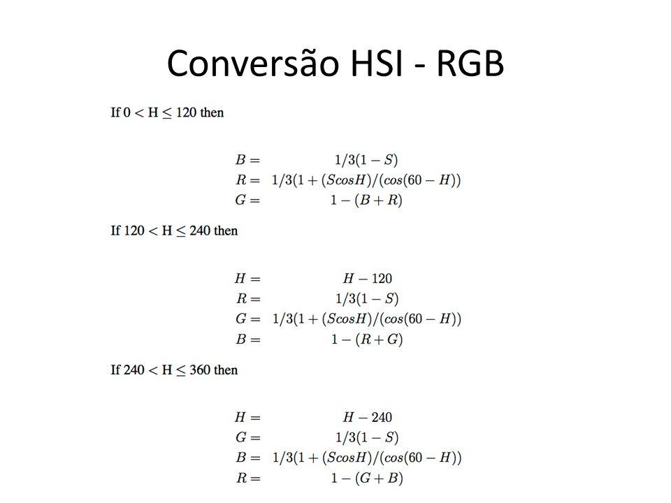 Conversão HSI - RGB