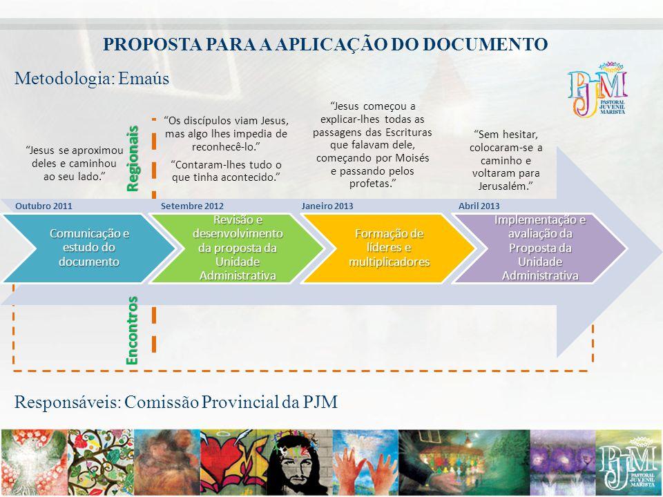 Comunicação e estudo do documento Revisão e desenvolvimento da proposta da Unidade Administrativa Formação de líderes e multiplicadores Implementação