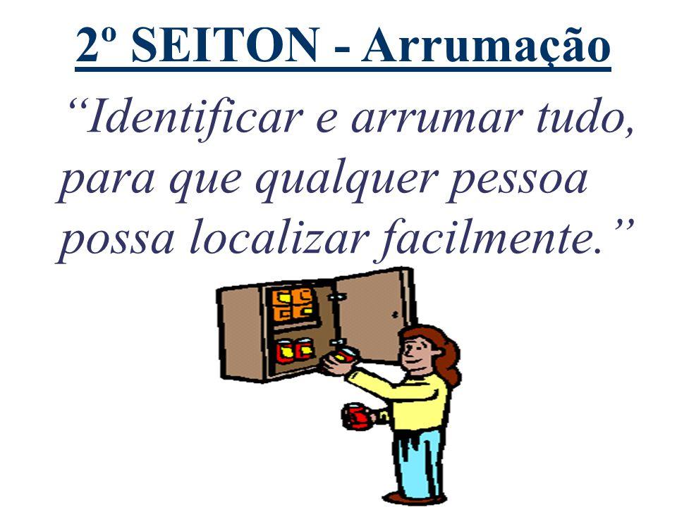 """2º SEITON - Arrumação """"Identificar e arrumar tudo, para que qualquer pessoa possa localizar facilmente."""""""