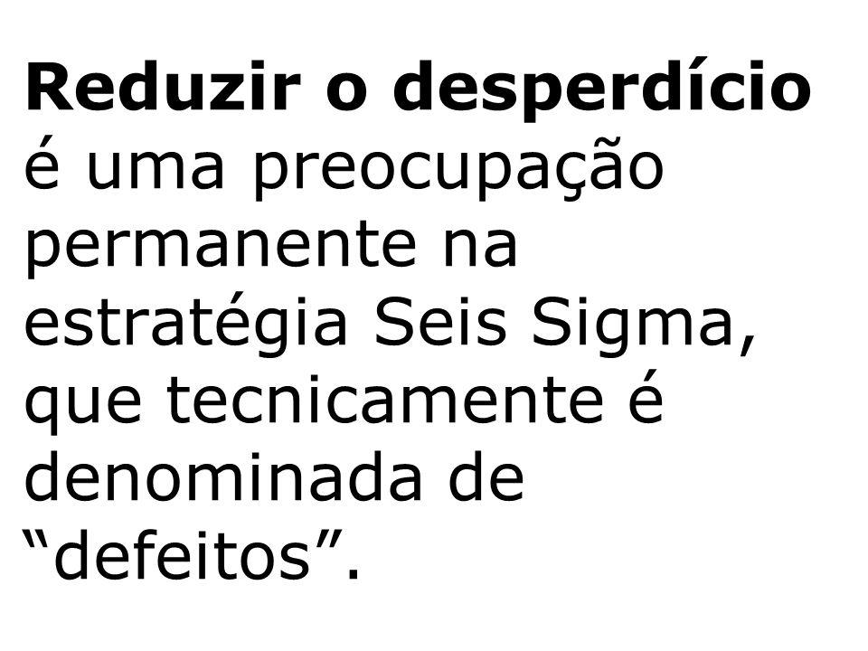 """Reduzir o desperdício é uma preocupação permanente na estratégia Seis Sigma, que tecnicamente é denominada de """"defeitos""""."""