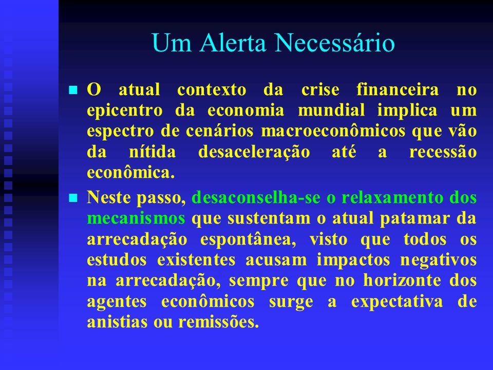 Um Alerta Necessário O atual contexto da crise financeira no epicentro da economia mundial implica um espectro de cenários macroeconômicos que vão da nítida desaceleração até a recessão econômica.