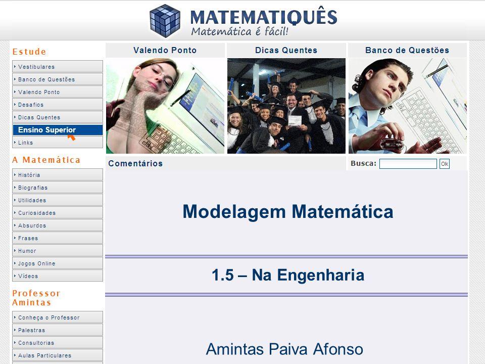 Ensino Superior 1.5 – Na Engenharia Amintas Paiva Afonso Modelagem Matemática