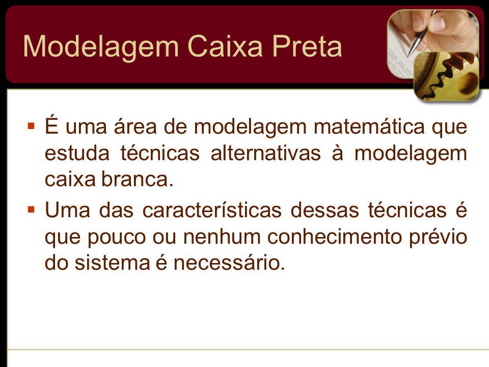 Modelagem Caixa Preta  É uma área de modelagem matemática que estuda técnicas alternativas à modelagem caixa branca.
