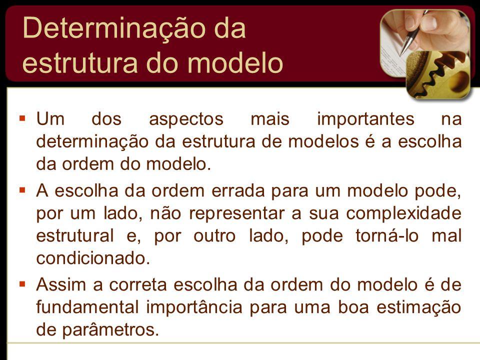  A escolha da ordem errada para um modelo pode, por um lado, não representar a sua complexidade estrutural e, por outro lado, pode torná-lo mal condicionado.