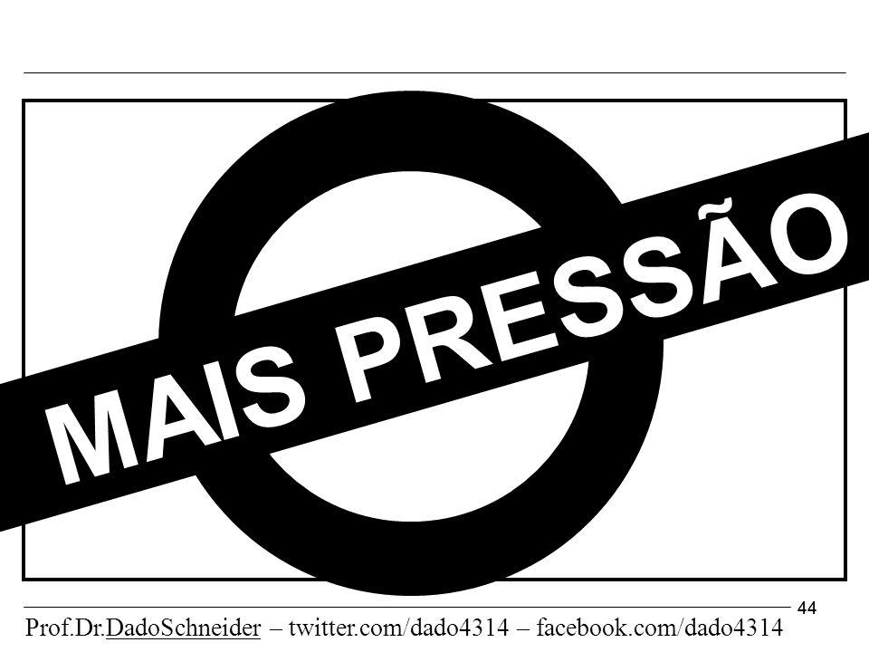 44 MAIS PRESSÃO Prof.Dr.DadoSchneider – twitter.com/dado4314 – facebook.com/dado4314