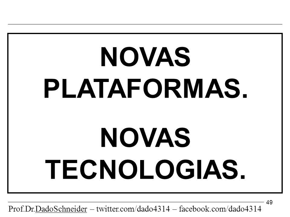 49 NOVAS PLATAFORMAS. NOVAS TECNOLOGIAS.