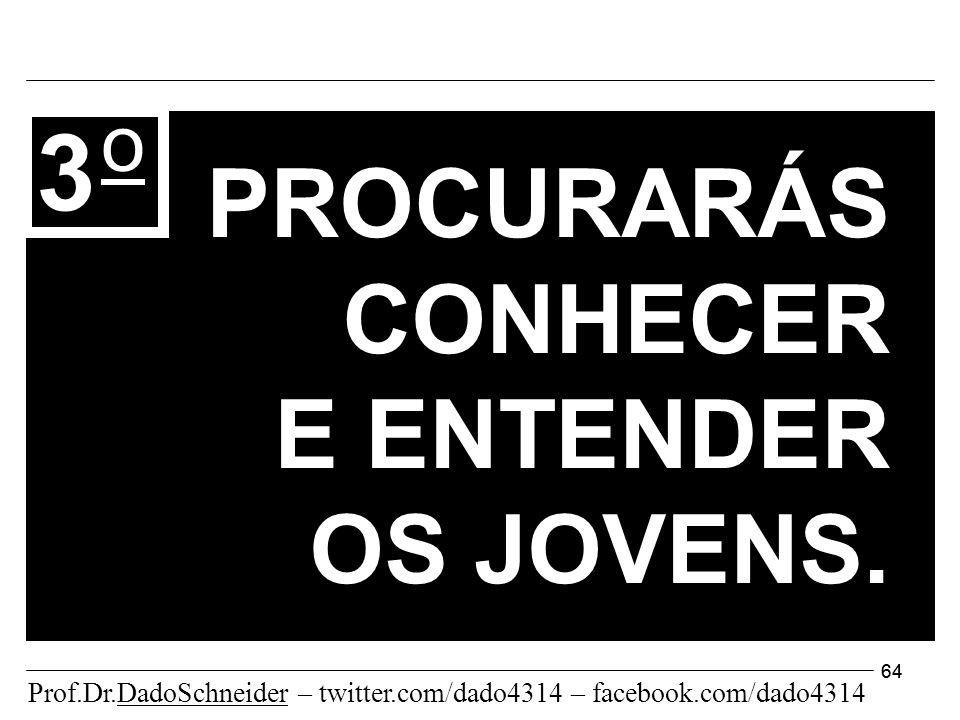 64 PROCURARÁS CONHECER E ENTENDER OS JOVENS.