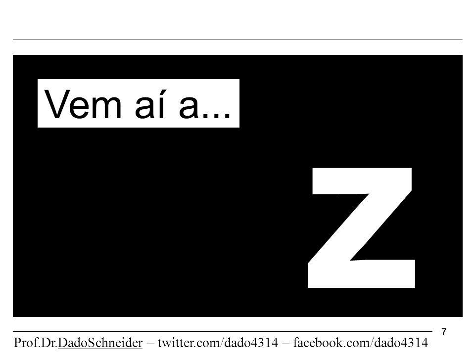 7777 z Vem aí a... Prof.Dr.DadoSchneider – twitter.com/dado4314 – facebook.com/dado4314
