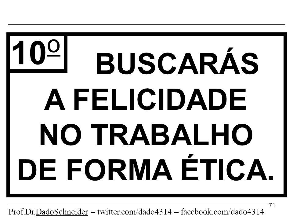 71 BUSCARÁS A FELICIDADE NO TRABALHO DE FORMA ÉTICA.