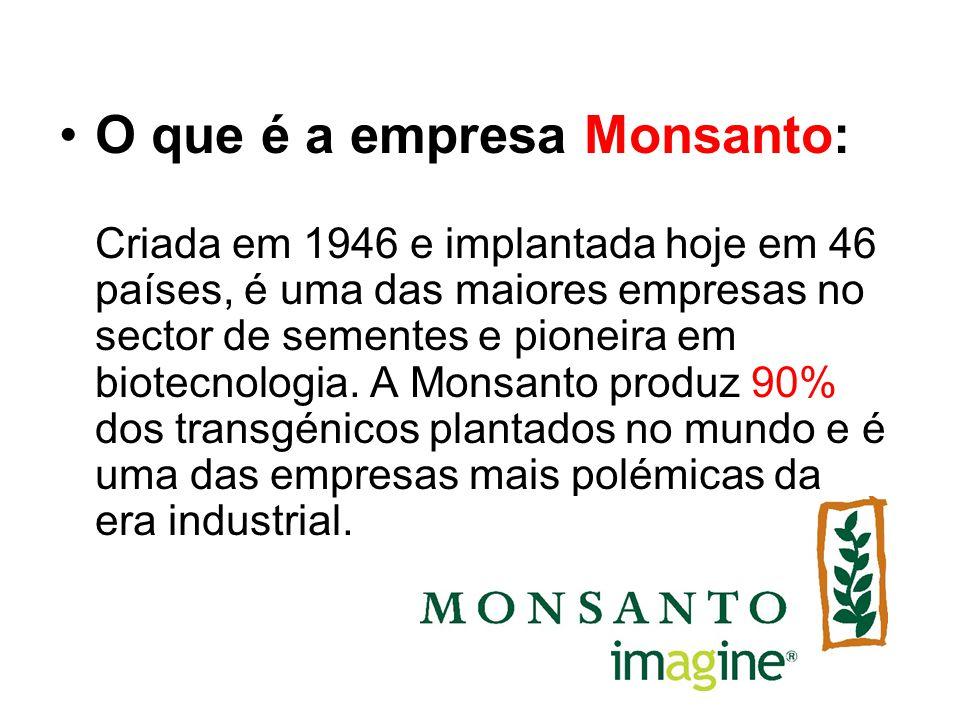 A jornalista francesa Marie-Monique Robin, renomada jornalista com 25 anos de experiência, após três anos de investigação, lançou o livro e documentário sobre a história obscura da Monsanto e a sua ligação íntima com governos, cientistas e imprensa pelo mundo.