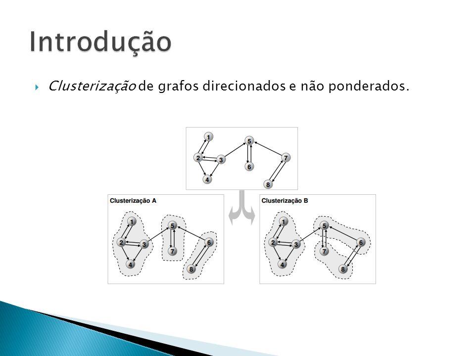  Clusterização de grafos direcionados e não ponderados.