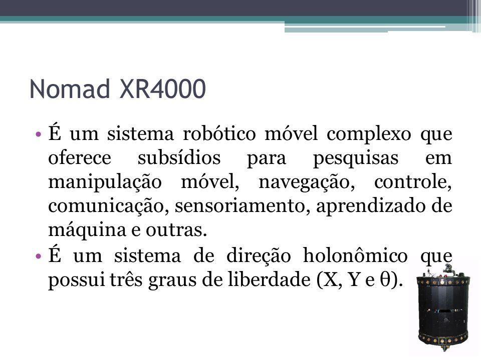 Nomad XR4000 É um sistema robótico móvel complexo que oferece subsídios para pesquisas em manipulação móvel, navegação, controle, comunicação, sensori