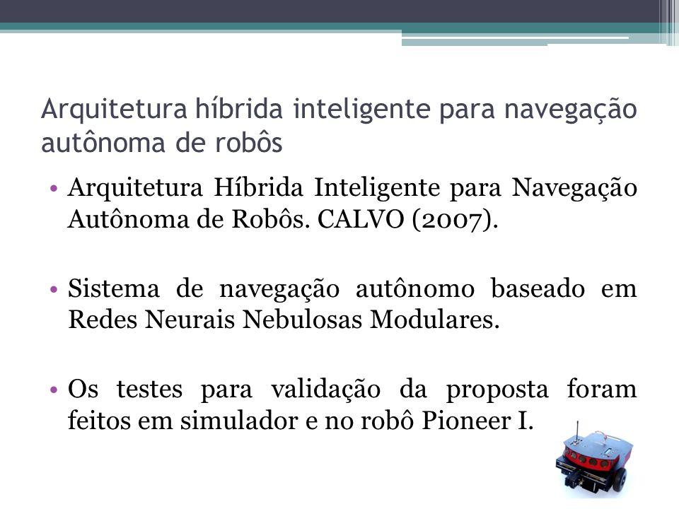Arquitetura híbrida inteligente para navegação autônoma de robôs Arquitetura Híbrida Inteligente para Navegação Autônoma de Robôs. CALVO (2007). Siste