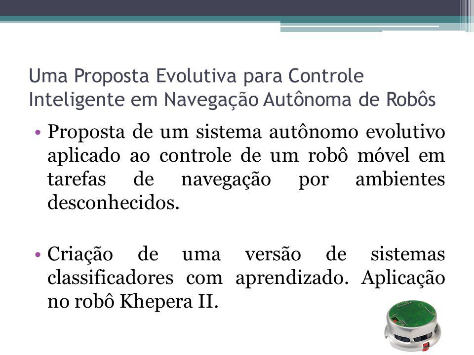 Uma Proposta Evolutiva para Controle Inteligente em Navegação Autônoma de Robôs Proposta de um sistema autônomo evolutivo aplicado ao controle de um r