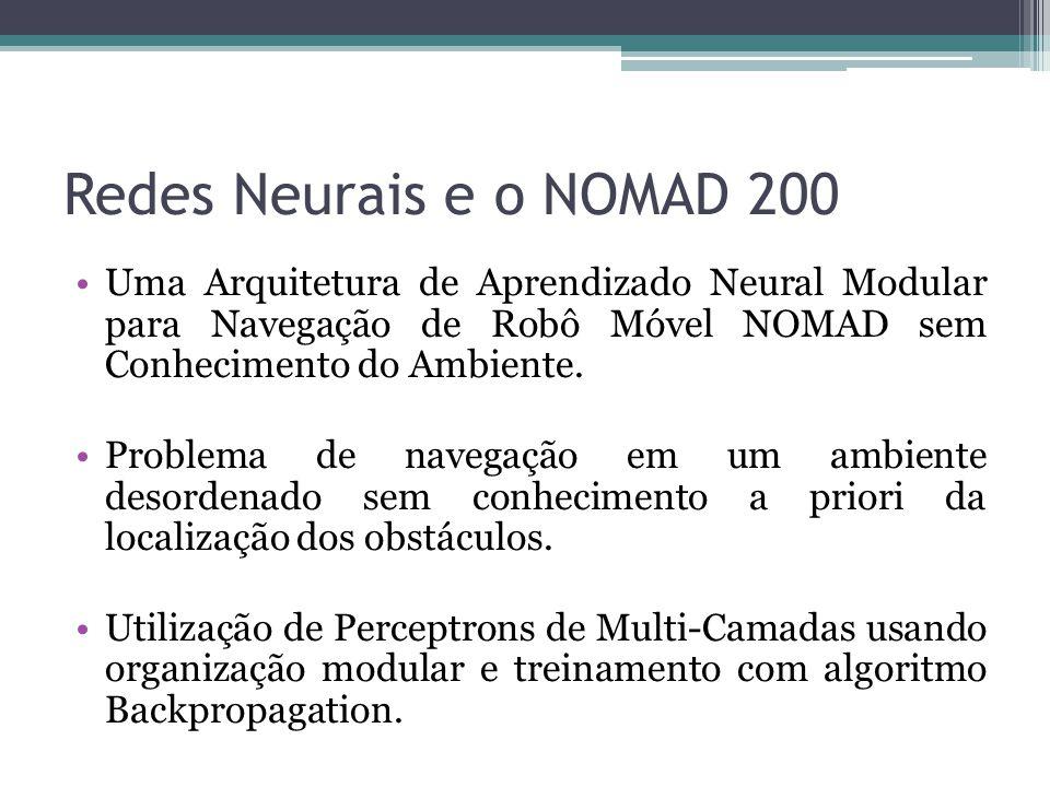 Redes Neurais e o NOMAD 200 Uma Arquitetura de Aprendizado Neural Modular para Navegação de Robô Móvel NOMAD sem Conhecimento do Ambiente. Problema de
