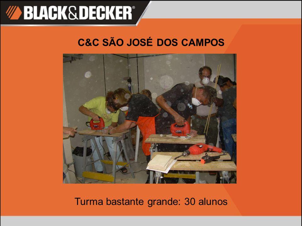 C&C SÃO JOSÉ DOS CAMPOS Turma bastante grande: 30 alunos