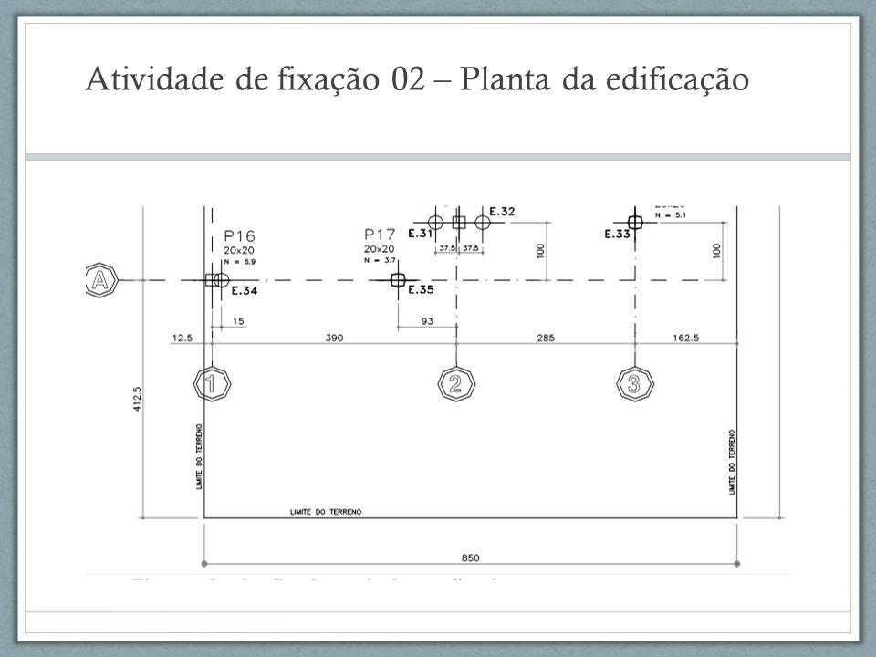 Atividade de fixação 02 – Planta da edificação