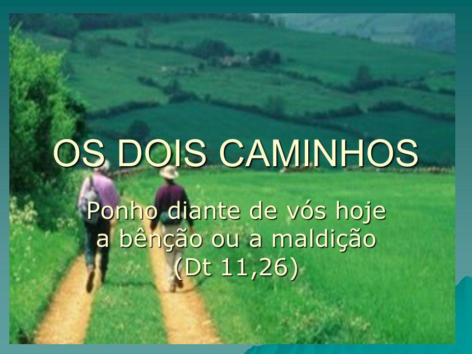 OS DOIS CAMINHOS Ponho diante de vós hoje a bênção ou a maldição (Dt 11,26)