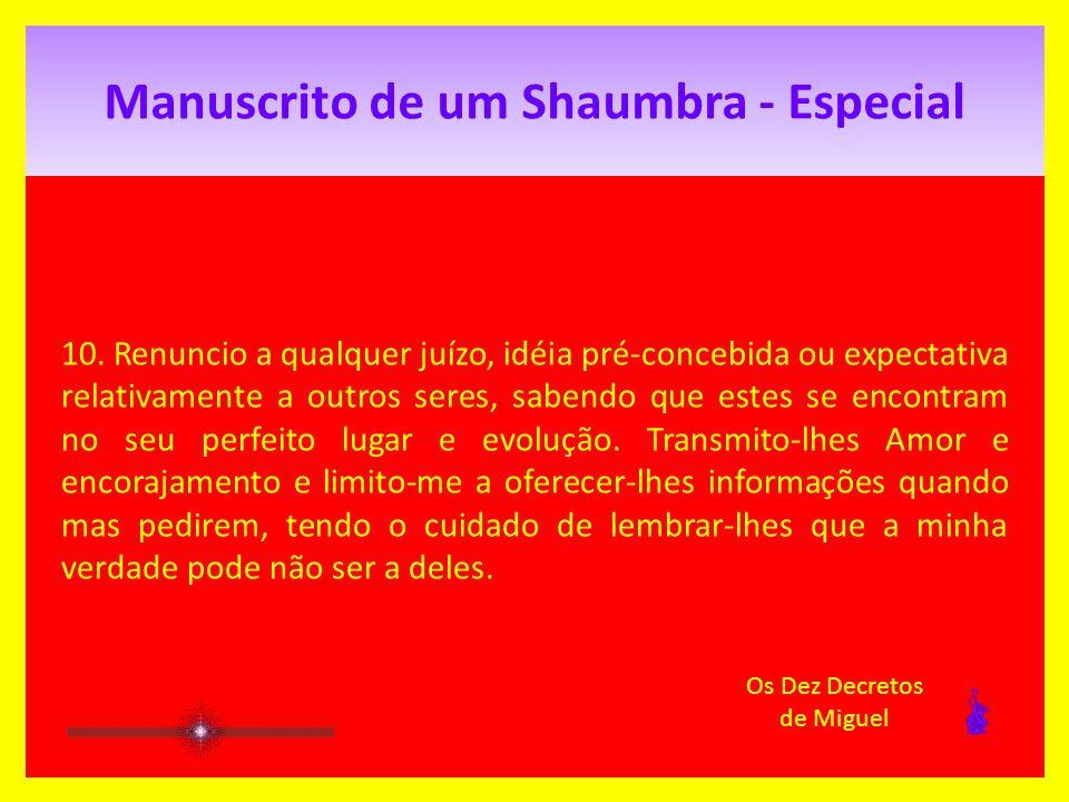 Manuscrito de um Shaumbra - Especial 9.