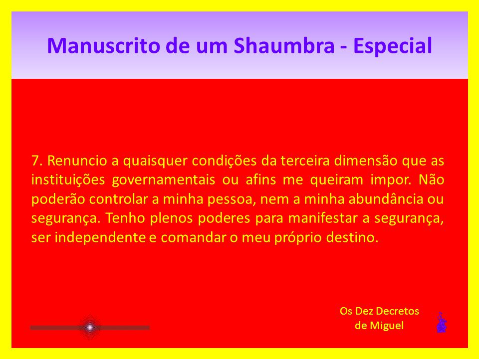 Manuscrito de um Shaumbra - Especial 7.