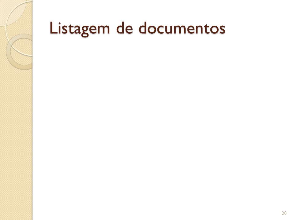 Listagem de documentos 20
