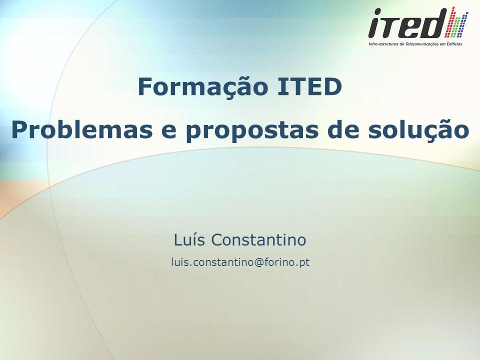 Formação ITED Problemas e propostas de solução Luís Constantino luis.constantino@forino.pt