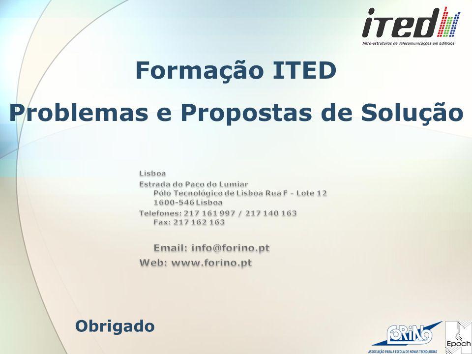 Obrigado Formação ITED Problemas e Propostas de Solução