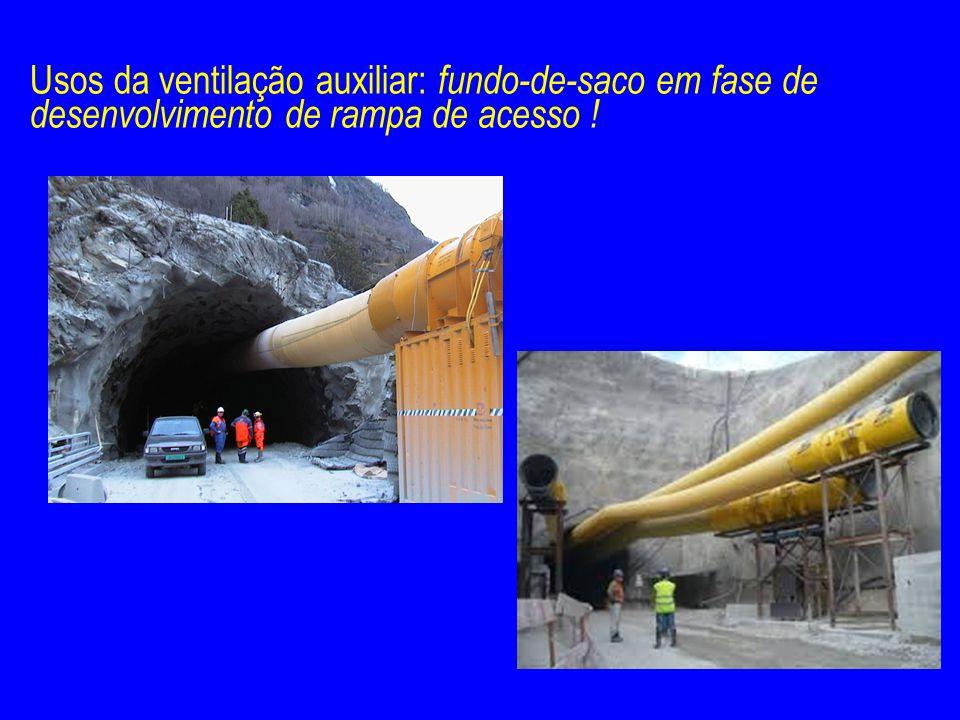Usos da ventilação auxiliar: fundo-de-saco em fase de desenvolvimento de rampa de acesso !