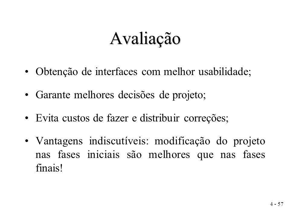 15 - 57 Métodos e Técnicas de Avaliação Classificação (Rocha e Baranaukas, 2000) –Inspeção de usabilidade –Teste de usabilidade –Experimento controlado –Método interpretativo