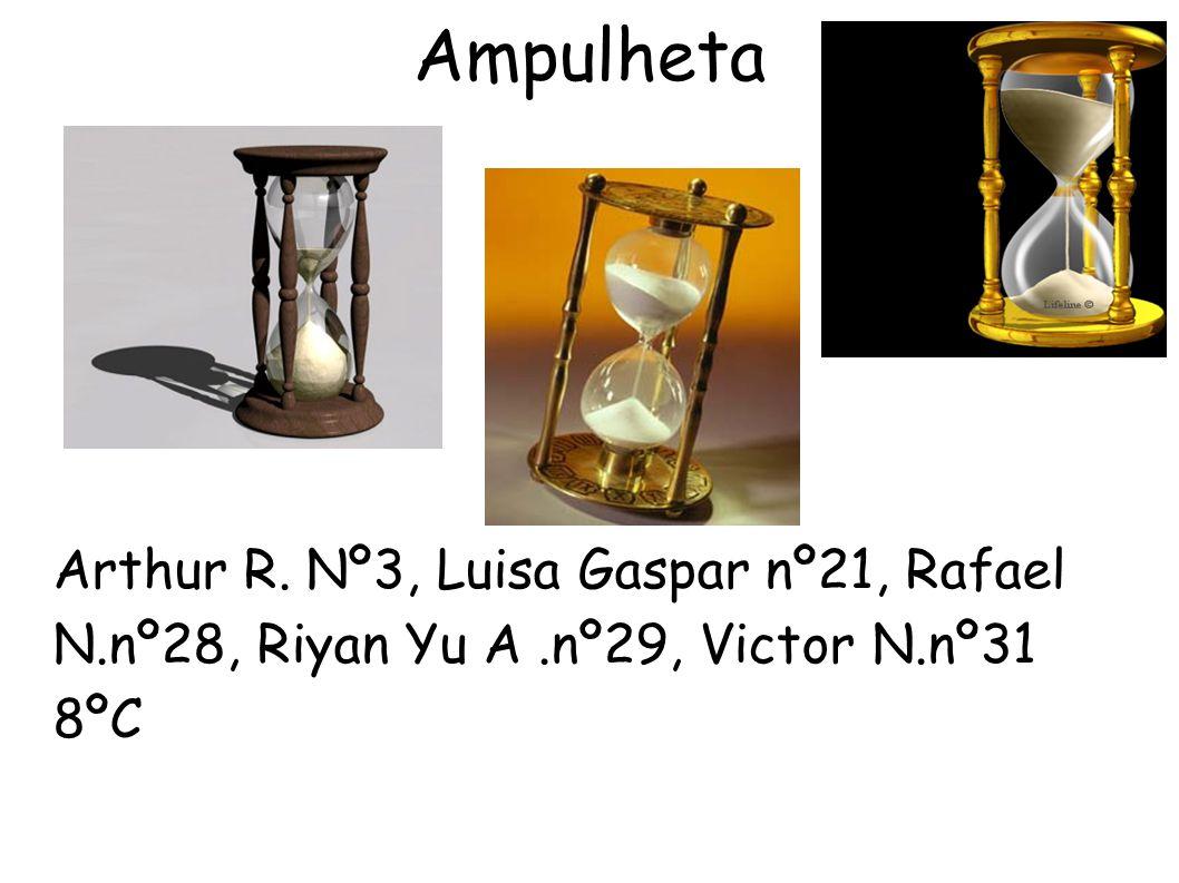 Ampulheta Arthur R. Nº3, Luisa Gaspar nº21, Rafael N.nº28, Riyan Yu A.nº29, Victor N.nº31 8ºC
