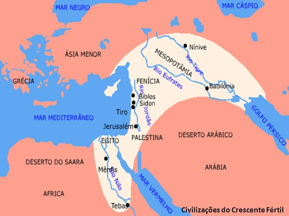 Localizadas no Oriente Médio e nordeste da África, estas sociedades ficavam em regiões férteis devido à presença de rios.