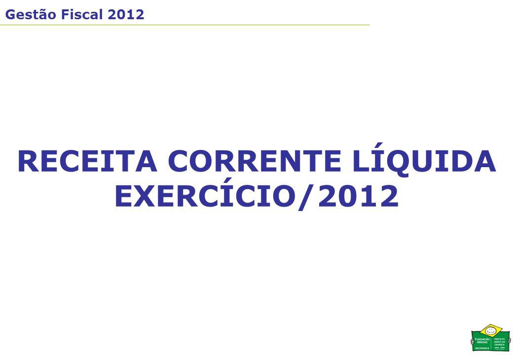 RECEITA CORRENTE LÍQUIDA EXERCÍCIO/2012