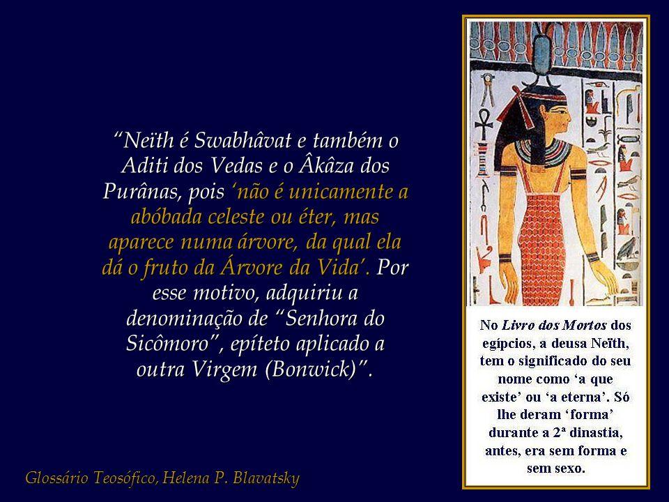"""""""Beauregard fala-nos da Imaculada Concepção da Virgem que, como Minerva egípcia, a misteriosa Neïth, pôde desde então vangloriar-se de ter procedido d"""