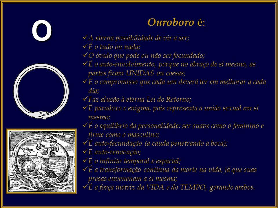 O numeral ZERO, conhecido pelos místicos como OUROBORO. Ouroboro é o círculo, o universo, o infinito, o início e o fim, ou o CICLO SEM FIM. É a repres